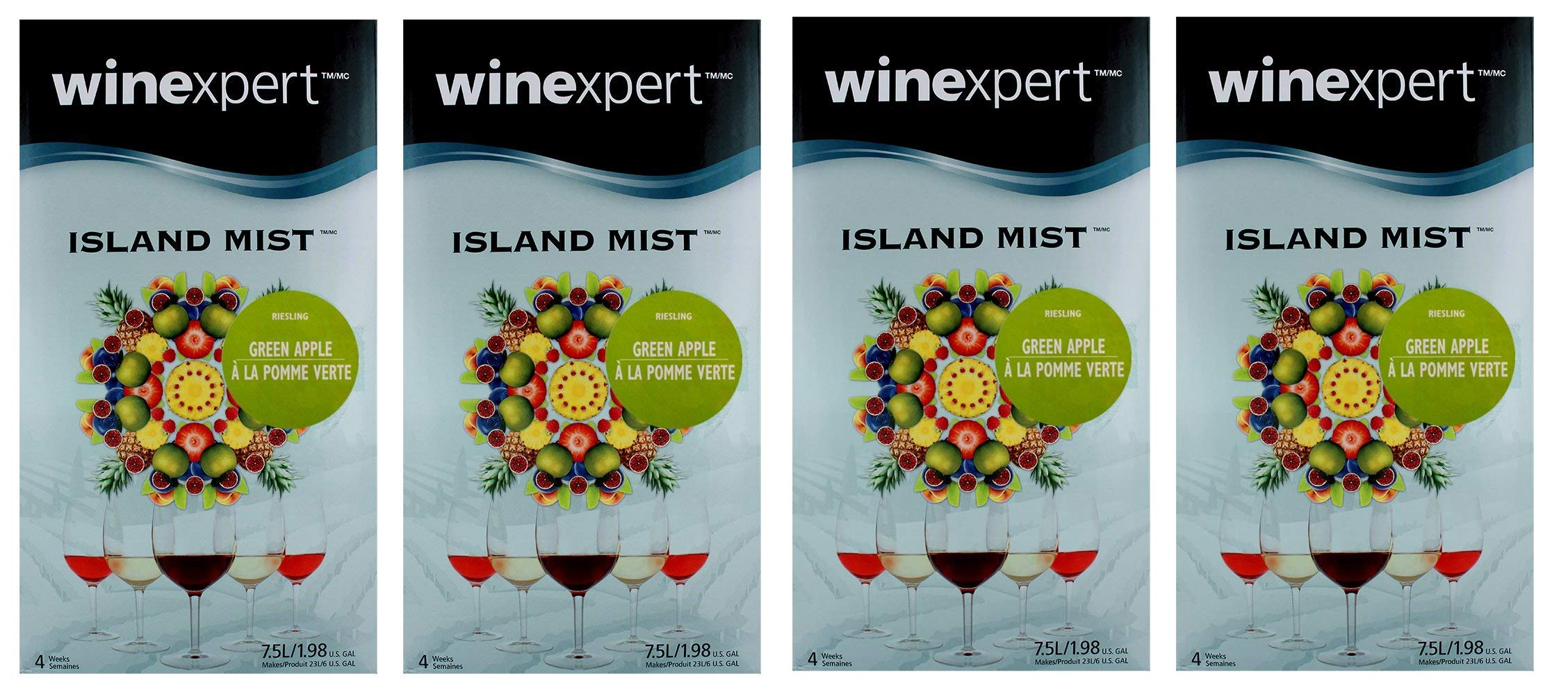 Green Apple Riesling (Island Mist) (4-Pack)