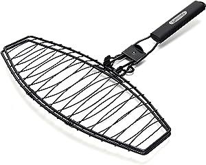 GrillPro 21015 Detachable Handle Fish Basket