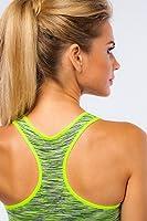 Seamless Women's Sports Removable Padded Bra Medium Support Workout Yoga Bra (Small)