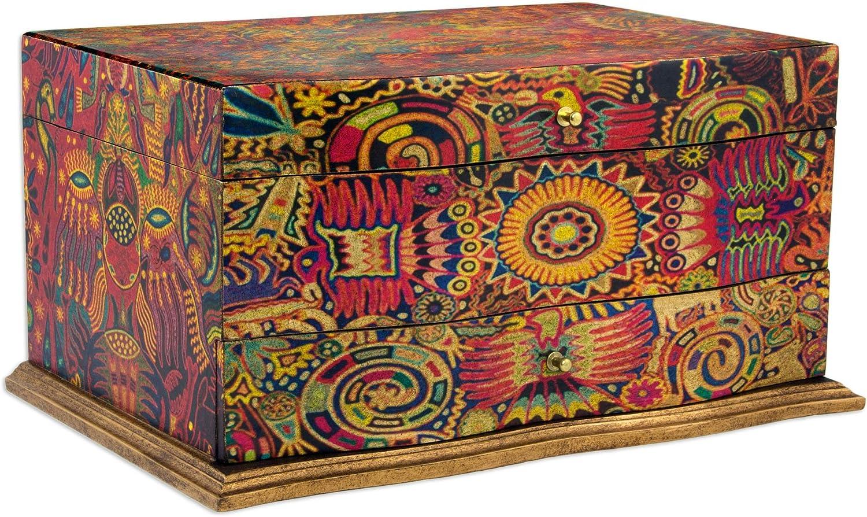Small jewelry decoupage box vintage Decorative gift box Proposal ring box Floral keepsake box