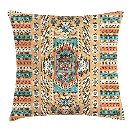 LanDu - Funda de cojín con diseño Tribal étnico Azteca y ...