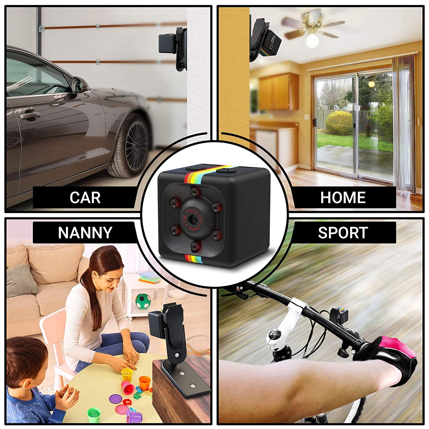 Car Video Recorder for Nanny//Housekeeper Drone Office and Outdoor Use Hidden Spy Camera 1080P Mini Security Wireless cam with Night Vision Sports Action Cam with Motion Detection for Home