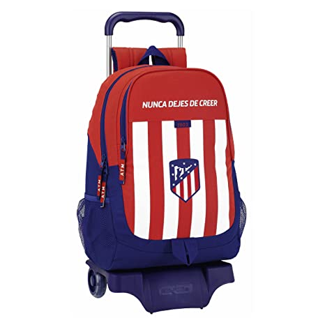 Safta Mochila Atlético De Madrid Oficial Escolar Con Carro Safta 330x150x430mm