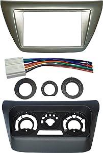 Complete Install Double Din Dash Trim Frame Kit Fits Mitsubishi Lancer 2002-2007