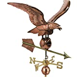 "Good Directions 34"" Smithsonian Eagle Estate Weathervane, Pure Copper"