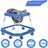 Dash Venus Baby Walker with Cushioned Seat and Rattles (Blue)