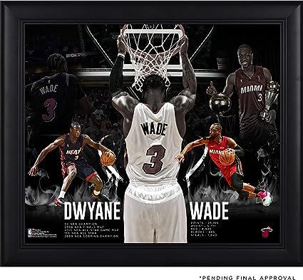 hot sale online 3df95 af776 Dwyane Wade Miami Heat Framed 15