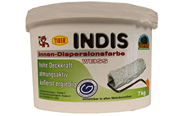 Tiger Indis Innen Dispersionsfarbe Wandfarbe Weiss Tuchmatt 7