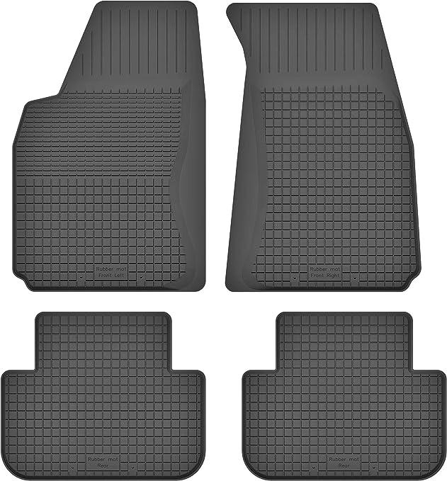 Ko Rubbermat Gummimatten Fußmatten 1 5 Cm Rand Geeignet Zur Toyota Avensis Ii T25 Bj 2003 2009 Ideal Angepasst 4 Teile Ein Set Auto