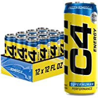 C4 Energy Drink 12oz (Pack of 12) - Frozen Bombsicle - Sugar Free Pre Workout Performance Drink with No Artificial…
