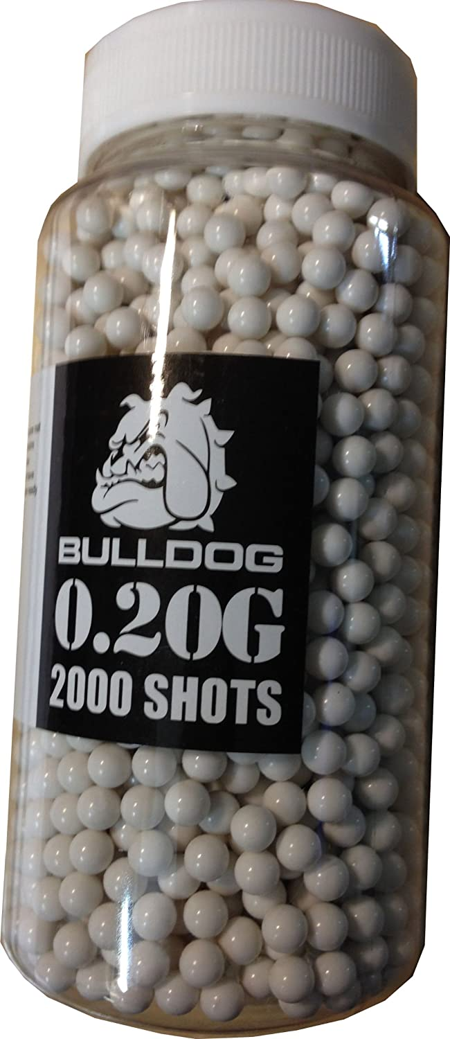 Bulldog High Pro Grade 6mm 0.20g Medium Weight BB Pellets x 2000 Quick Loader Bottle