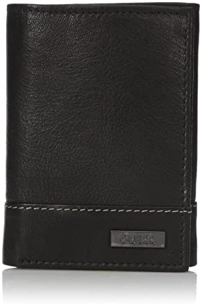 f333d6f77 Guess Men's Chico Trifold Wallet, Black, One Size at Amazon Men's Clothing  store: