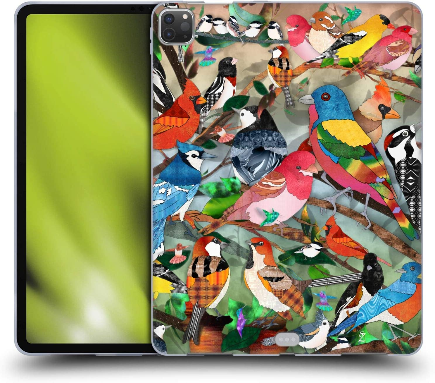 Head Case Designs Officially Licensed Suzan Lind Medley 2 Birds Soft Gel Case Compatible with Apple iPad Pro 12.9 (2020 / 2021)