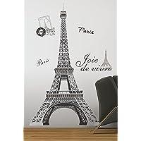 York Wallcoverings RMK1576GM RoomMates Adhesivos Gigantes de Despegar y Adherir para la Pared de la Torre Eiffel Blanco