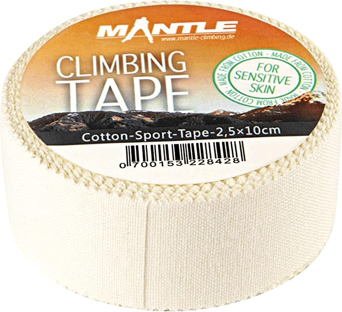 Mantle Kletterzubehör Climbing Tape - Protección pasiva para Escalada, Color Blanco, Talla m
