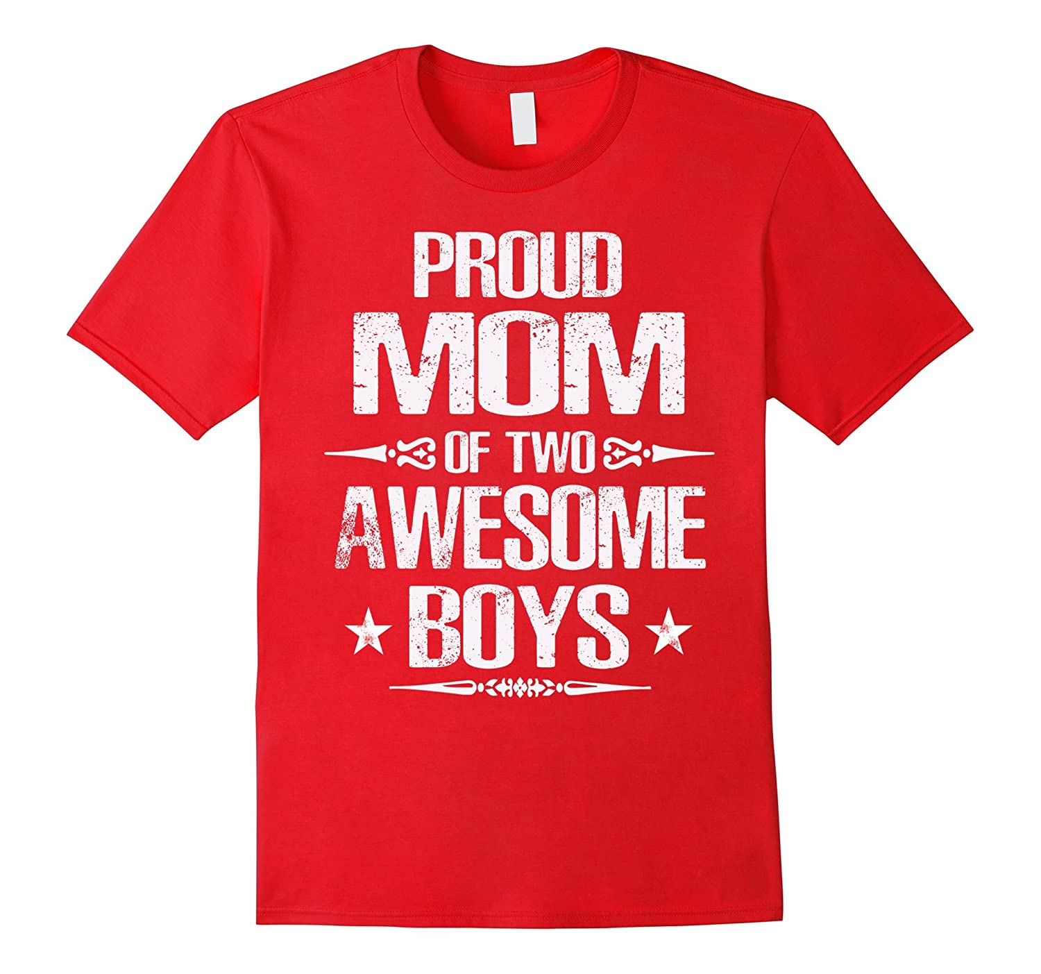 Proud Mom Of Two Awesome Boys Gift Mom T-shirt-Vaci