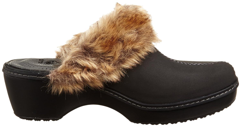 crocs Women's Cobbler Fuzz Clog