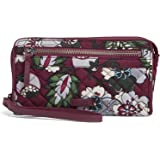 Vera Bradley Women's Signature Cotton Front Zip Wristlet with RFID Protection