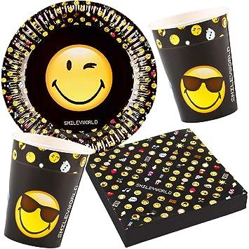 37 Juego de set de fiesta de * Smiley World * para fiestas ...