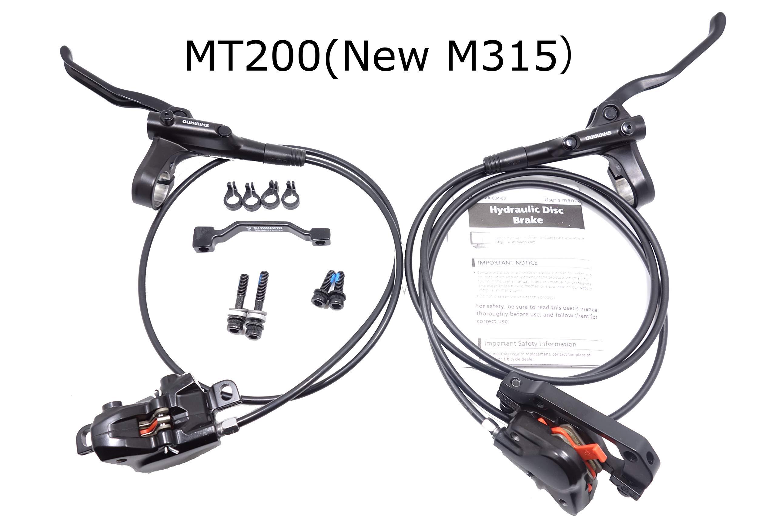 JGbike Shimano M315 MT200 MTB Hydraulic Disc Brakes Set Kits for Mountain Bike - Left/Rear 800mm Right/Front 1650mm by JGbike