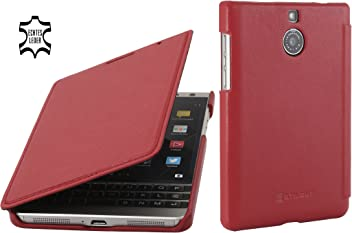 StilGut Book Type, Housse en Cuir pour Blackberry Passport Silver Edition, en Rouge Nappa