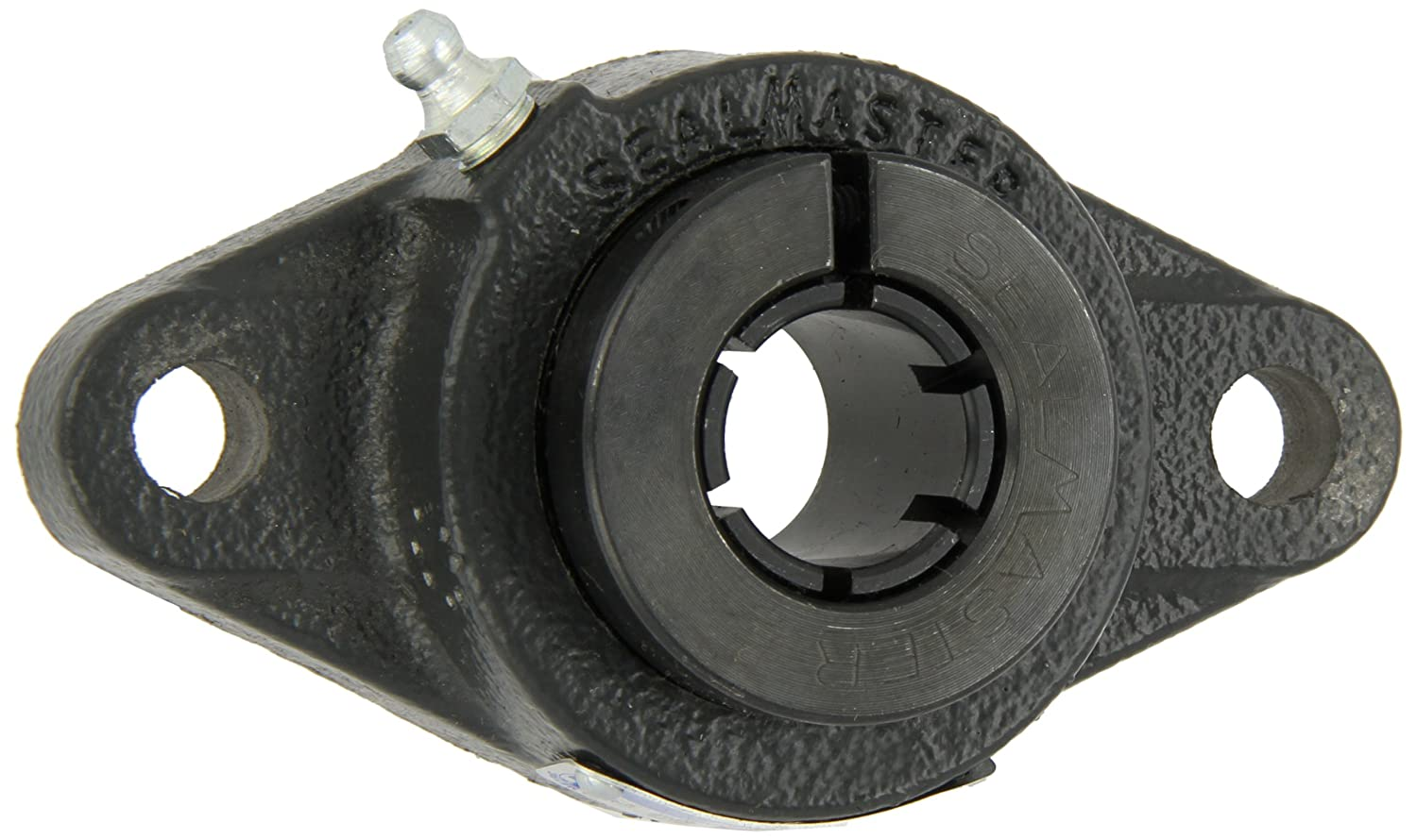 35mm Bore 5-1//8 Bolt Hole Spacing Width 6-1//8 Overall Length 9//16 Flange Height 6-1//8 Overall Length 9//16 Flange Height Regal Sealmaster SFT-207TMC Standard Duty Flange Unit Contact Seals Regreasable Skwezloc Collar Cast Iron Housing 2 Bolt