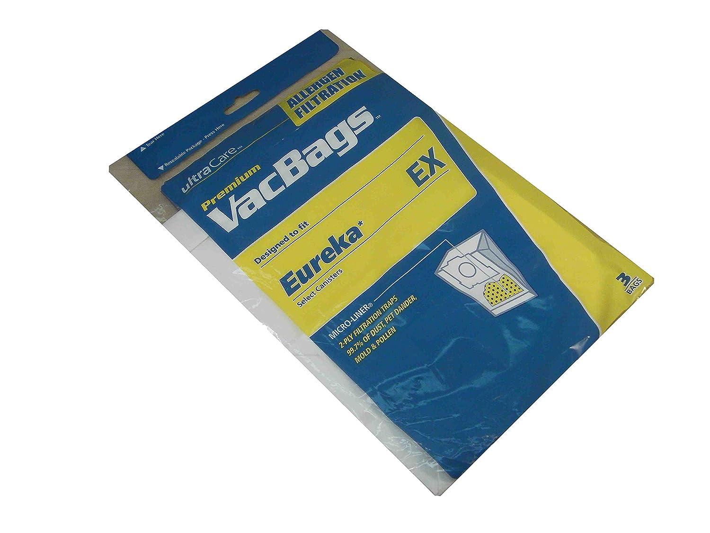UltraCare Eureka EX Allergen Filtration Filter Kit Bag 2 x 3-Pack (6 Filters)