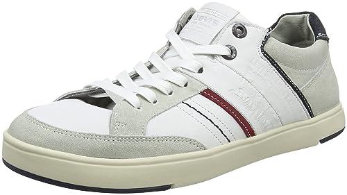 6efe7554d49dd Levi s BEYERS Low, Baskets Hommes, Blanc (Noir Regular White), ...