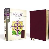 NRSV, Thinline Bible, Large Print, Bonded Leather, Burgundy, Comfort Print