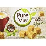 Pure Via Mélange Stévia & Sucre de Canne - Boîte de 78 Morceaux Sucre 156 g - Lot de 2