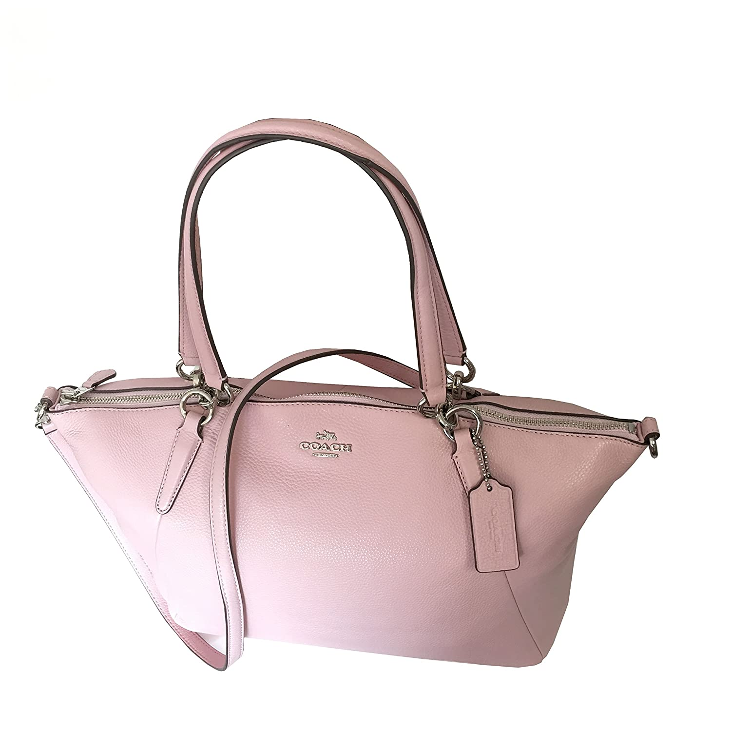Coach Kelsey Satchel In Pebble Leather Petal With Silver Hardware F36591 Shoes