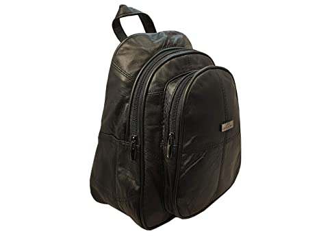 ed2c7a88d Mochila de cuero - Bolsas de lujo suave de la oveja Negro Mochila Nappa -  tamaño pequeño bolso ...