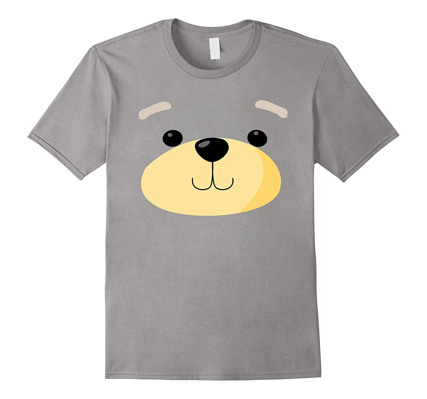 Cute Bear Face Costume Shirt - Funny Halloween Teddy Gift-ANZ