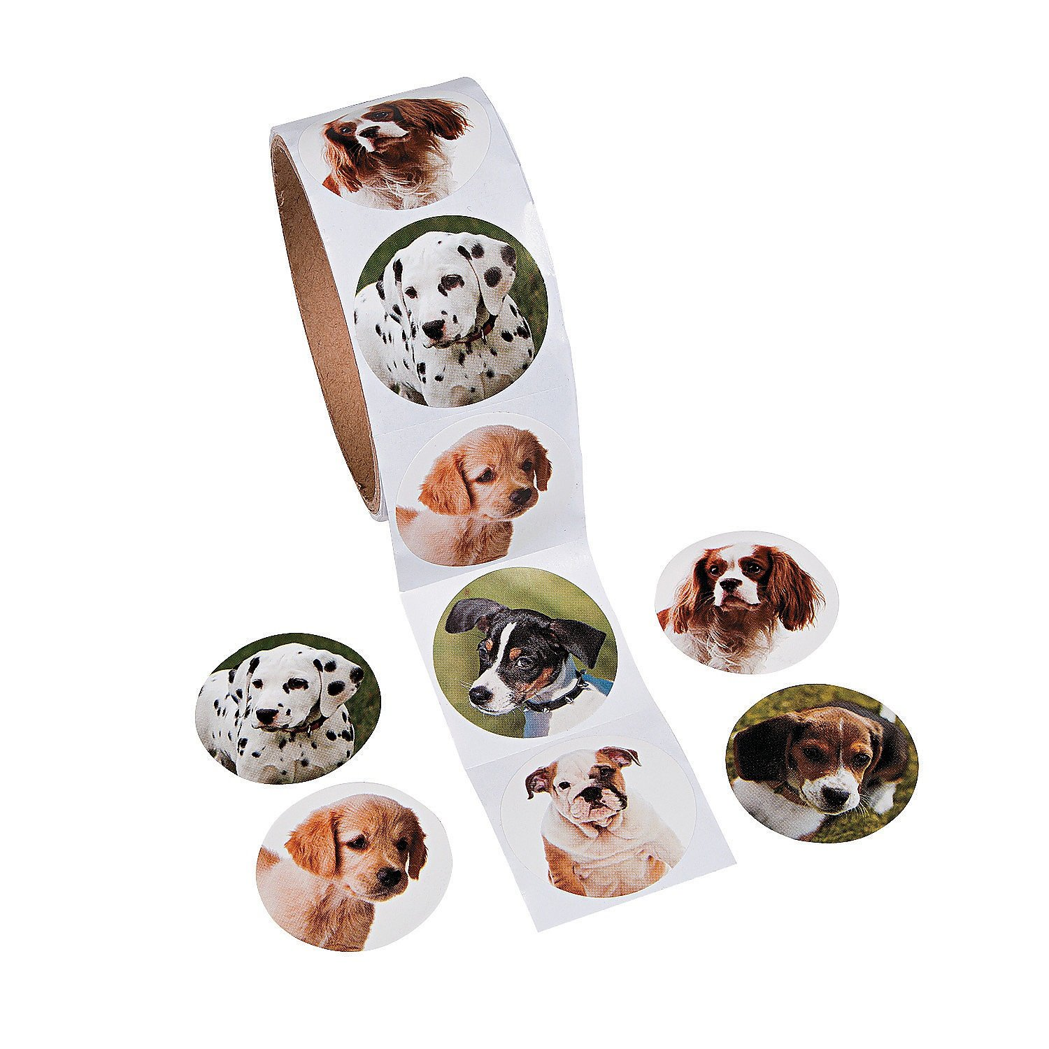Fun Express Dog Roll Stickers 100 Stickers
