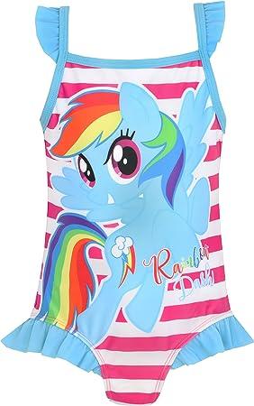 Vestido de baño de My Little Pony para niñas,Vibrante y colorido traje de baño, perfecto para las va