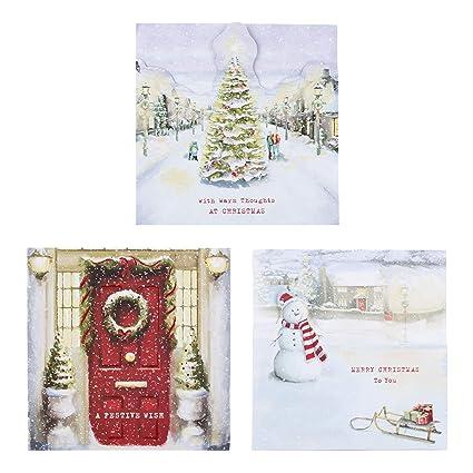 Hallmark 25499879 - Tarjeta de felicitación navideña (18 ...