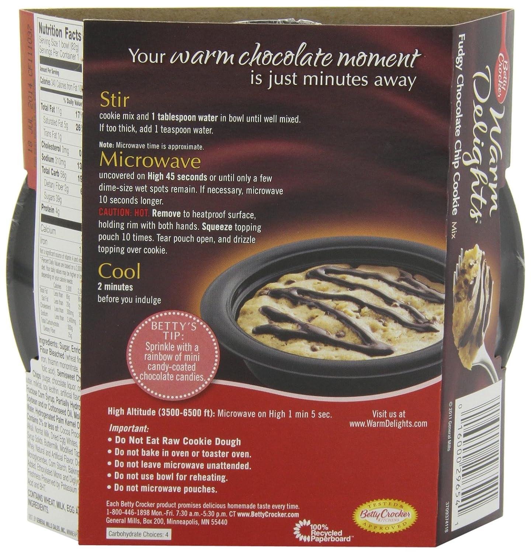 Amazon.com : Betty Crocker Warm Delights, Fudgy Chocolate Chip ...