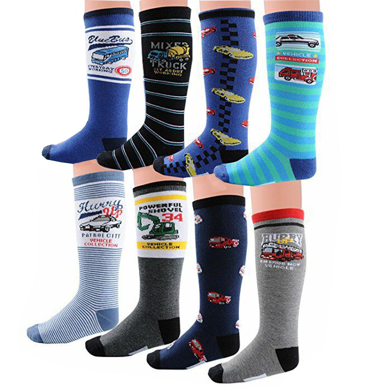 Honanda Boys Funny Cotton Cartoon Style Knee High Socks L 19 23cm
