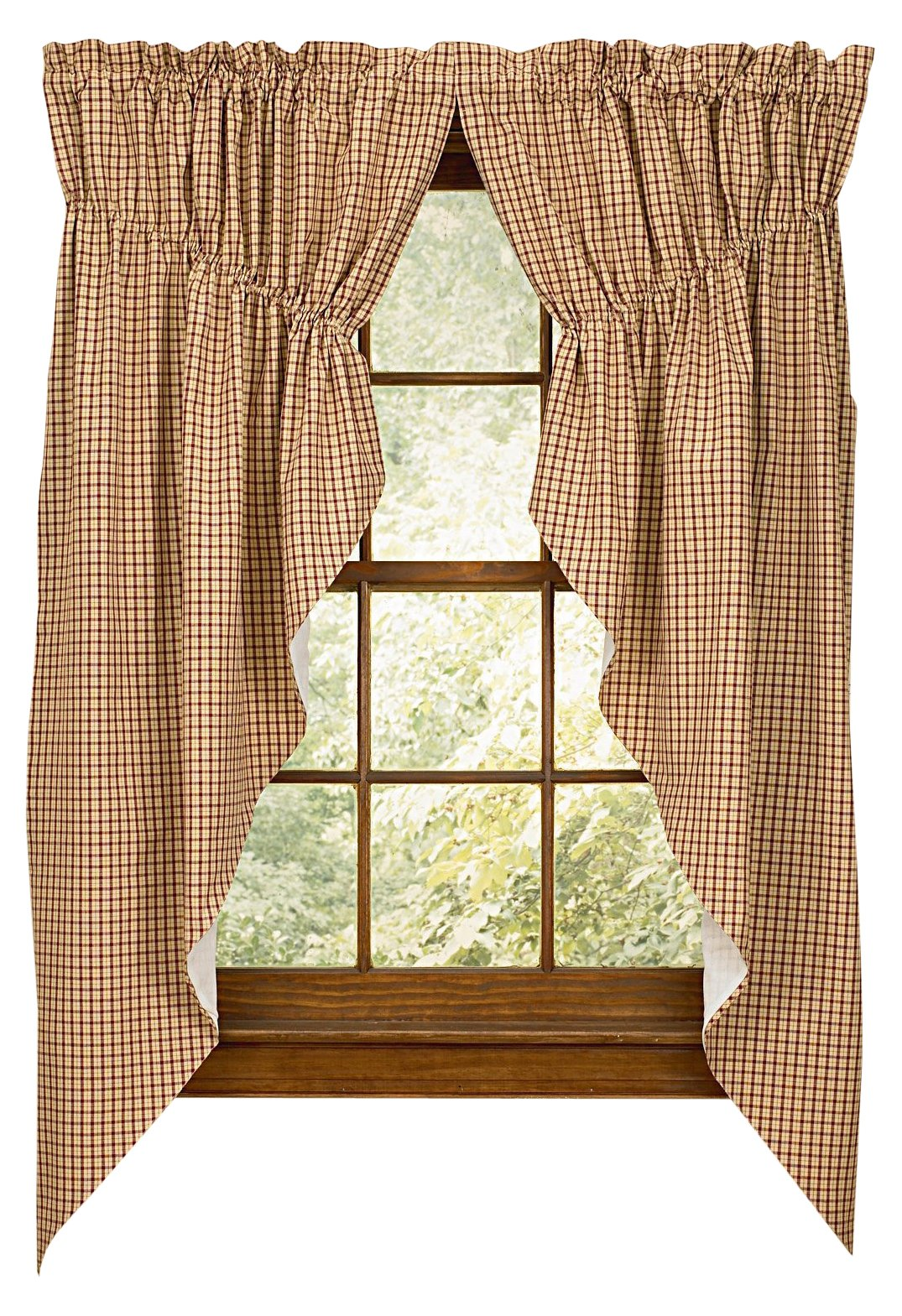 """Park Designs Apple Jack Gathered Swag, 72 x 63 - Shirr on conventional curtain rod Swag has a 1.5"""" header and a 2"""" rod pocket Machine wash cold, tumble dry low - living-room-soft-furnishings, living-room, draperies-curtains-shades - 81QF0tRL7HL -"""