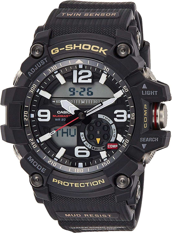Casio G-Shock Mudmaster Twin Sensor Mens Sports Watch Black