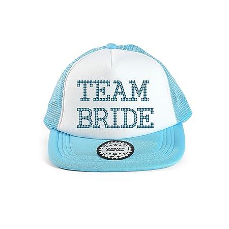 82717dcbd0d Aqua Varsany® Team Bride Baseball Hat Crystal Bridal Wedding Party Trucker Cap  bridal shower games invites invitations gifts decorations decor robe  favours ...