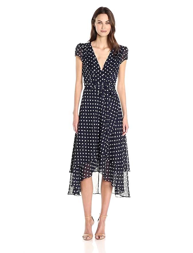 c307d69b546 Betsey Johnson Women s Chiffon Dot Wrap Dress at Amazon Women s Clothing  store