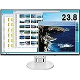 【Amazon.co.jp限定】EIZO 23.8型モニター(IPS/フレームレス/ブルーライト軽減/HDMI/ DisplayPort /5年間&無輝点保証/クリーナー付属)EV2451-RWTAZ