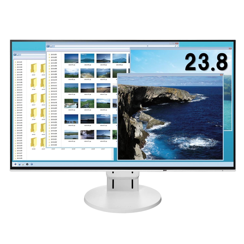 【Amazon.co.jp限定】EIZO 23.8型モニター(IPS/フレームレス/ブルーライト軽減/HDMI/ DisplayPort /5年間&無輝点保証/クリーナー付属) EV2451-RWTAZ