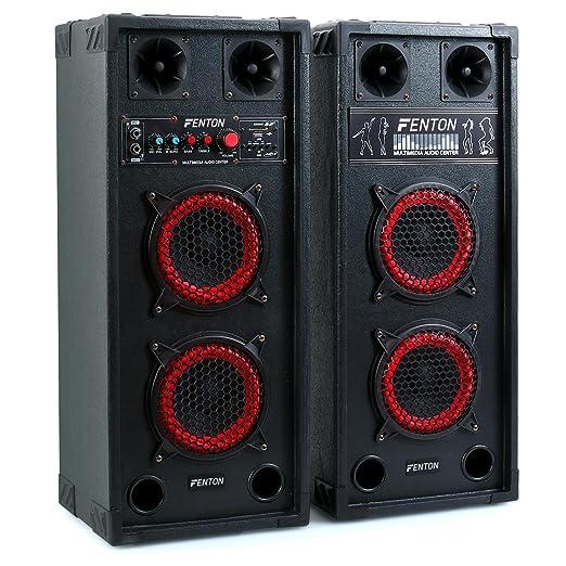 26 opinioni per Skytec SPB-26 set set coppia casse attive amplificate attiva / passiva (600 Watt