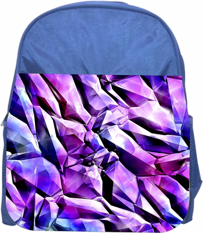 Girls Blue Preschool Toddler Kids Backpack /& Lunch Box Set Diamond Shards