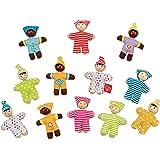 Hape Happy Babies Toddler Pocket Dolls Set of 12