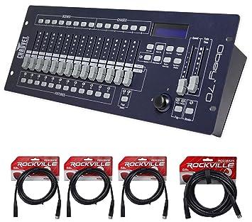 Chauvet DJ OBEY70 Obey 70 Lighting u0026 Fog DMX-512 Controller and 10u0027 u0026  sc 1 st  Amazon.com & Amazon.com: Chauvet DJ OBEY70 Obey 70 Lighting u0026 Fog DMX-512 ... azcodes.com