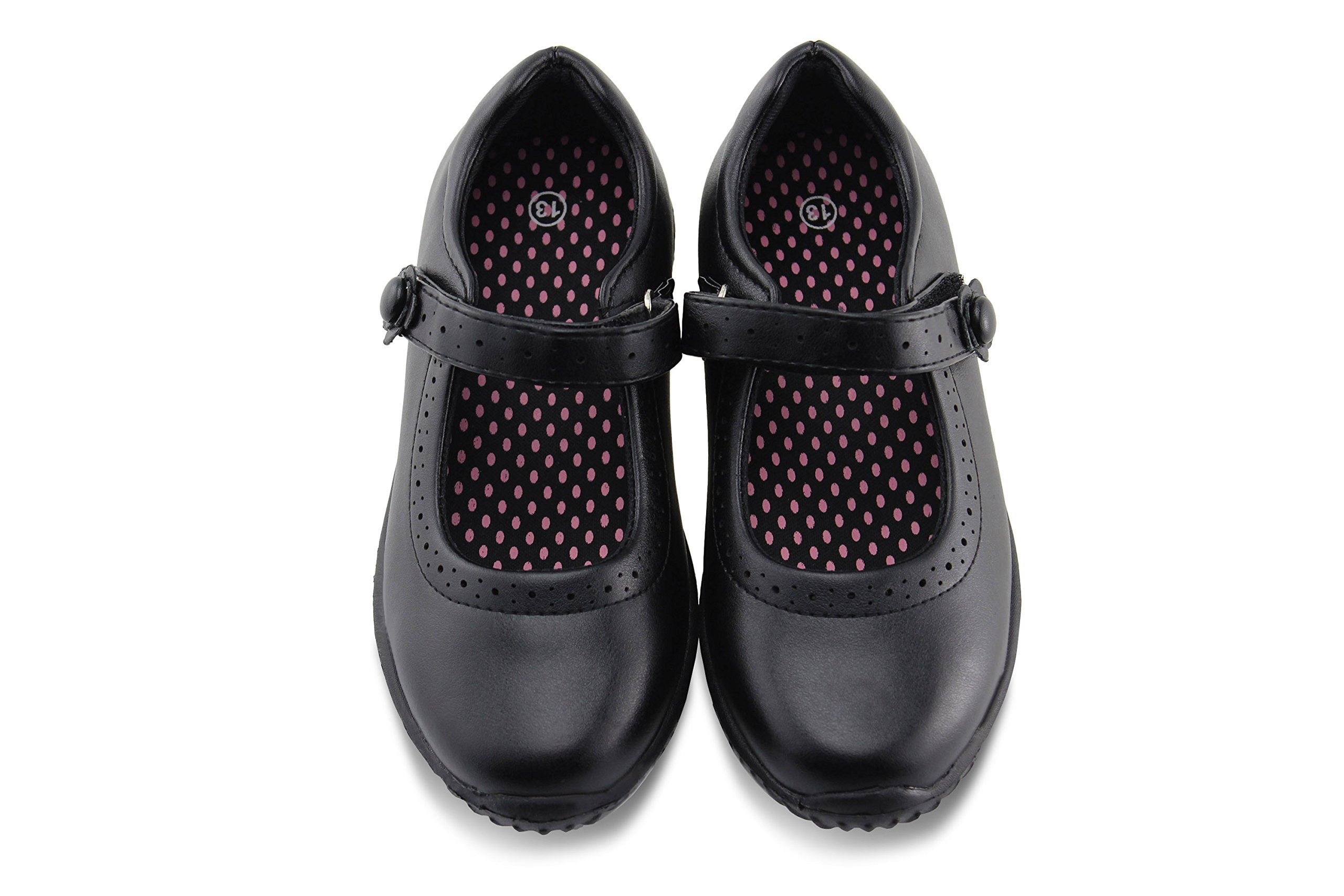 Jabasic Girl's Mary Jane School Uniform Shoes(2)