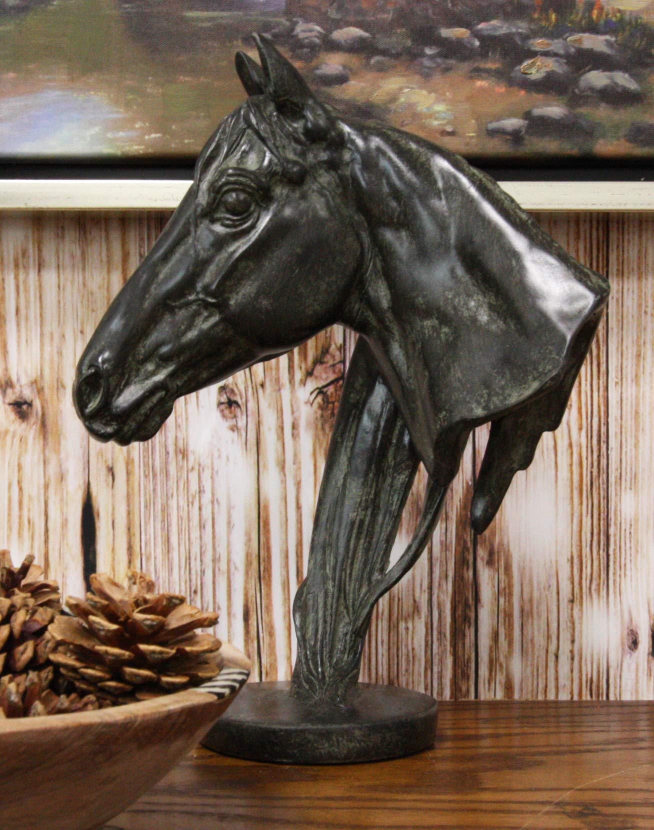 Ebros Terracotta Horse Bust Sculpture 12 25 Tall Faux Granite Resin Decor Stallion Horse Head Statue Buy Online In Moldova At Moldova Desertcart Com Productid 107322119